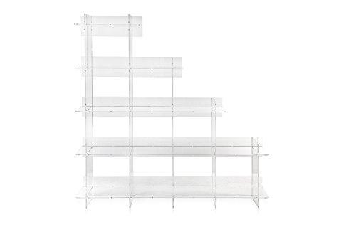 Iplex Design Atmosfera 3 Libreria, Plexiglass/PMMA, Trasparente