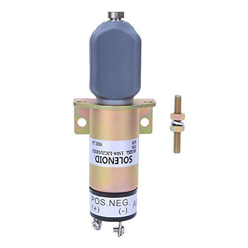Válvula solenoide, 1504-12C2U1B1S1A Apague la válvula solenoide Válvula solenoide de 12V Carcasa de acero de alta calidad Interruptor magnético Válvula solenoide de ignición 12V