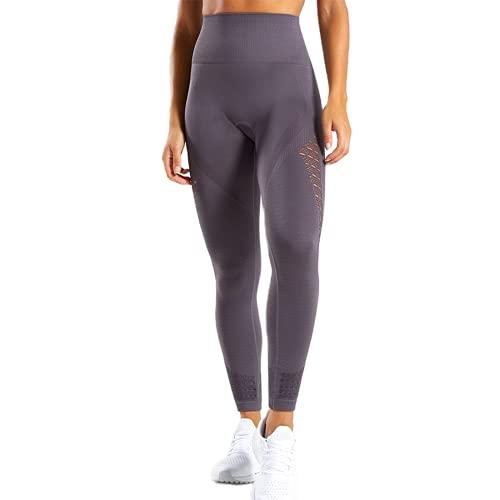 QTJY Energy Leggings sin Costuras Pantalones de Yoga de Cintura Alta para Mujer Leggings Deportivos súper elásticos Gimnasio Celulitis Pantalones para Correr F S