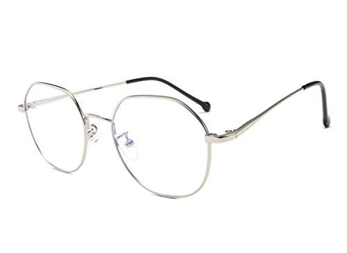 Gafas Anti-luz Azul - Marco de Metal Gafas para Ordenador Lentes Transparentes Unisexo para Hombres y Mujeres Gafas Antifatiga Ordenador