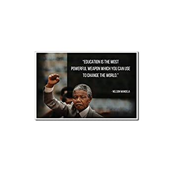 """Nelson Mandela Poster Quote """"Education is the most powerful weapon which you can use to change the world."""" Motivational Educational Inspirational Poster 12-Inches by 18-Inches Print Wall Art CAP00052"""