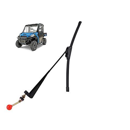 Valchoose UTV Hand Wiper 15.7' UV Protected Rubber Manual Windshield Wiper for Polaris Ranger RZR Kawasaki Honda Pioneer Golf Cart - Instruction Included