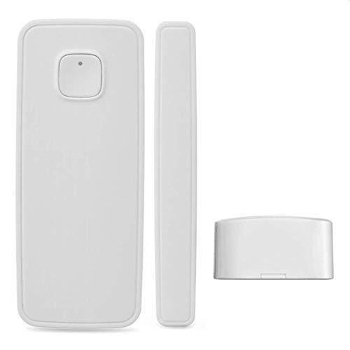 El detector de sensor de imán de puerta de ventana inteligente funciona con Alexa Google Home para el sistema de alarma de seguridad antirrobo(con batería)(paquete de 1)