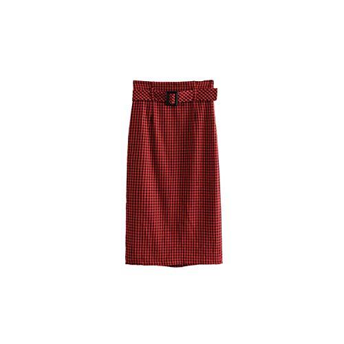 Falda de botones retro para damas estilo callejero, chic, mediados de pantorrilla, faldas Ba145