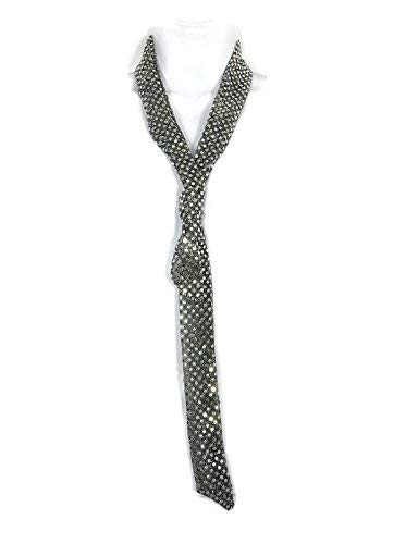 Department store In a popularity Silver Sequin Dot Skinny Scarf Long Scarves Neckti Womens