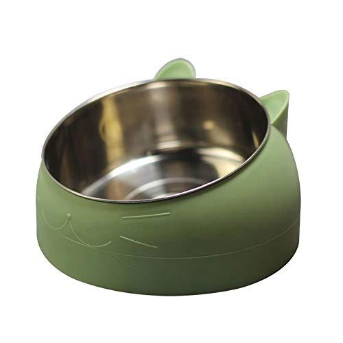 jaosn Comedero para perros de acero inoxidable antideslizante con almohadilla de silicona para comida o agua, adecuado para cuencos de comida para gatos y perros en diferentes tamaños
