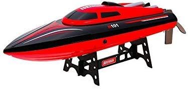 RCTecnic Lancha Radiocontrol RC Skytech H101 High Speed Boat 2.4 GHz (44cm.) | Barco Teledirigido RC Alta Velocidad para Niños y Adultos, Color Rojo