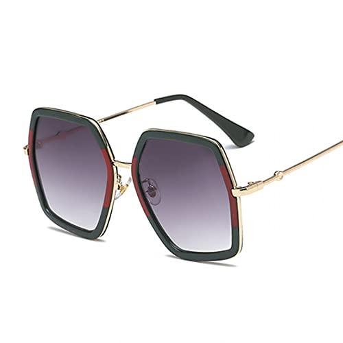 DAIDAICDK Gafas de Sol Mujer gradiente Colorido Gafas de Sol Gafas octágono Irregular Viajes al Aire Libre Gafas