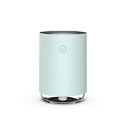 Los humidificadores de Vapor frío, 220ML portátil ultrasónico silencioso de Escritorio USB humidificador de Aire for el Dormitorio del bebé Oficina Habitaciones en la Sala de Estar (Color : Green)