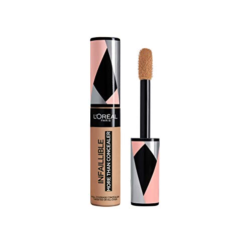L'Oréal Paris Infaillible More Than Concealer Nr. 331 Latte, hochpigmentierter Concealer mit hoher Deckkraft und extra großem Applikator, 11 ml