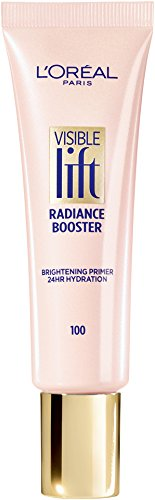 L'Oreal Paris Makeup Visible Lift Radiance Booster, skincare-based primer, 24hr hydration, instantly brightens, smoothes and evens skin, radiant finish, enriched with nourishing oils, 0.84 fl. oz.