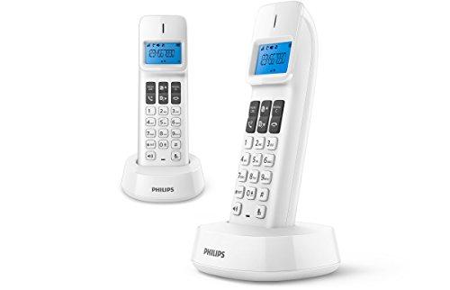 Philips d1412W Duo 2Telefone Feste kabellos mit Lautsprecher, ID Anrufer, kompatible alle Box fr, weiß