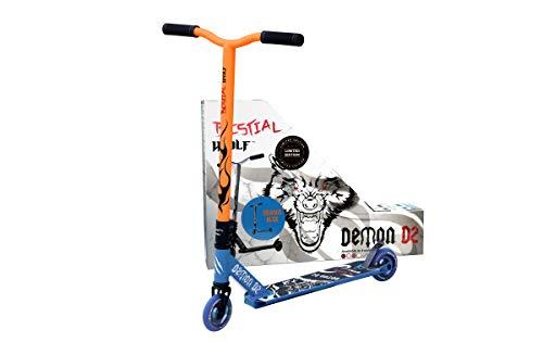 Bestial Wolf Demon D2 Edición Limitada UK, Scooter Freestyle, Nivel Iniciación Profesional (Radical Azul-Azul)
