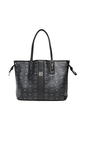 MCM Women's Shopper Tote, Black, One Size