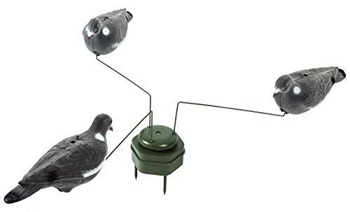 Nitehawk - Taubenkarussell mit DREI Locktauben - Drehung durch kleinen Magneten