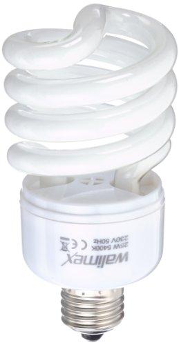 Walimex pro Spiral-Tageslichtlampe 25 W - Daylight Spirallampe Fotolampe Energiesparlampe, E27 Fassung, 5500K Tageslicht, 25 W entspricht 150 W Glühbirne, für Softbox und Reflektor