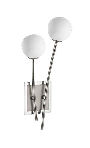 Wandleuchte Fischer M6 Mini Modular Glas-Kugel Weiß Spotlampe