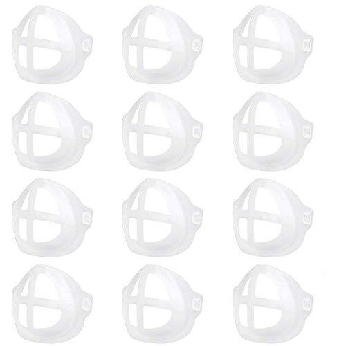 【12枚セット】 息苦しくない インナーマスク マスクフレーム マスクガード インナーブラケット 3D 立体 蒸れ メイク崩れ 肌荒れ 防止 洗える 繰り返し使用 ひんやりプラケット