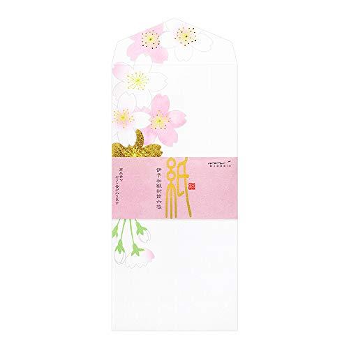 デザインフィル ミドリ 封筒 箔 桜柄 ピンク S2 85270006