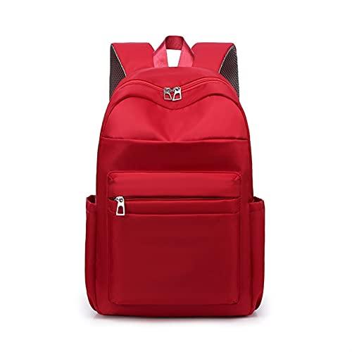 KJCHEN Bolso de Hombro Start School Bag Amplio Capacidad Simple Mochila Ocio Campus Colegio Estudiantes High School Chicas Bolso (Color : Red)