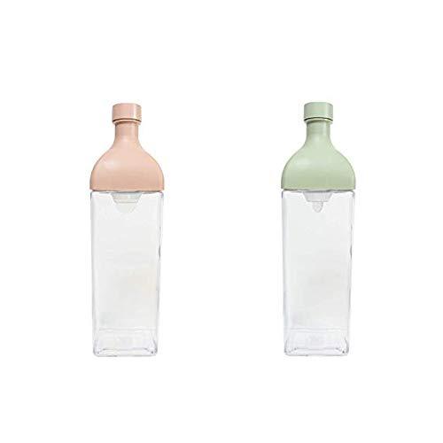 HARIO(ハリオ)カークボトルスモーキーピンク樹脂製縦横ピッチャー茶こし付きKAB-120-SPR&カークボトル1.2リットル日本製KAB-120-SG【セット買い】