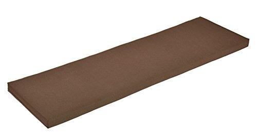 Naturholzmöbel Seidel Bankauflage Bankkissen Bankpolster Sitzkissen 160x38cm Bezug braun mit Reissverschluss, Stoff Panama, waschbar bei 30° (braun)