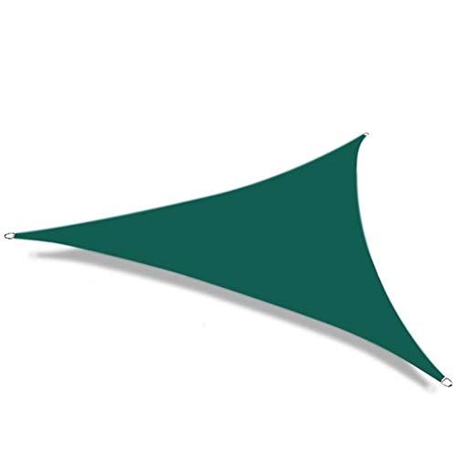 No logo Nevy - Luifel driehoekig Luifel Zonnescherm UV-bescherming weerbestendig zeil 8 maten en 3 kleuren voor tuin / balkon / terras 3.6x3.6x3.6m dark green