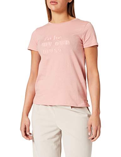 Springfield Damen Camiseta Texto Bordado Unterhemd, Fuchsia, Large