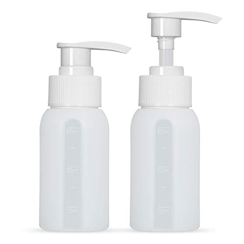 Silicone Lotion Bottles Squeezable Leak Proof Pump Refillable Travel Size Containers Cosmetic Accessories for Shampoo, Conditioner, Lotion, Toiletries, Cream 2 Pack