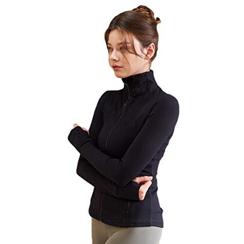 GladiolusA Laufjacke Damen Langarm Sportjacke Trainingsjacke Voll Reißverschluss Yoga Fitness Workout Jacke Mit Daumenloch Und Seitentasche Stil1 S
