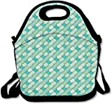 Bolsas de almuerzo con correa para la escuela, picnic, trabajo, lonchera, bolsos de moda para hombres
