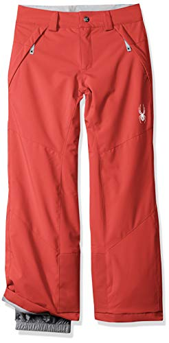 Spyder Girls' Olympia Ski Pant Regular Fit, Hibiscus/Hibiscus, Size 10