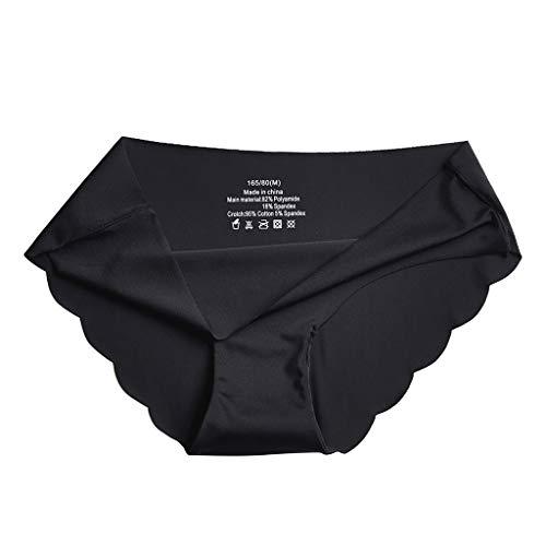 Bragas sexys para mujer sexy de cintura baja de algodón puro para niña, color puro, transpirable, seda de hielo, ultrafina, sin costuras, lencería sexy