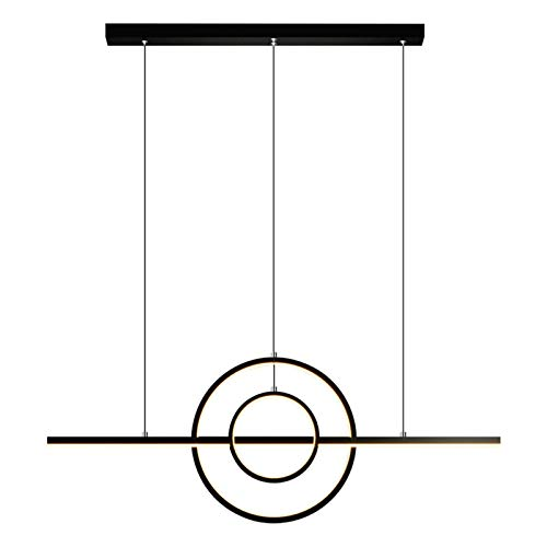 GANE Chandelier LED Light Source Simple Modern and Creative Personality Restaurant Dining Table Long Bar Nordic Lamps [A+] (Three-Color Light)