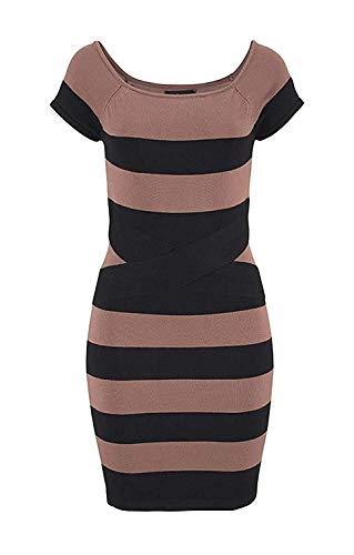 Kleid Strickkleid von melrose, Braun, 40