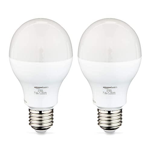 Amazon Basics - Bombilla Edison LED E27, 14 W (equivalente a 100 W), Blanco frío (Pack de 16)