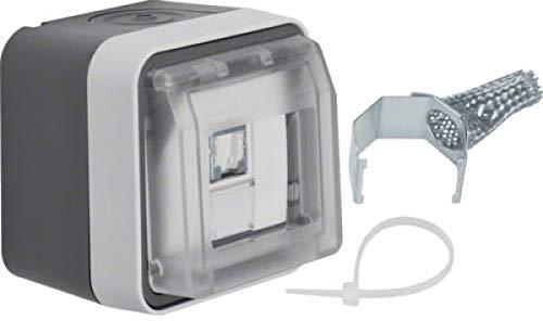 Berker Datenanschlussgehäuse 14093505 lichtgrau W.1 Kommunikationsanschlussdose Kupfer 4011334404538
