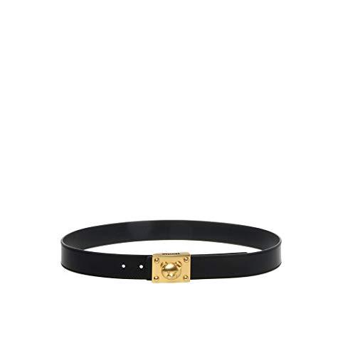 Moschino Couture Cinturón Hebilla Teddy Bear Modelo Z2 A8004 8001 Color Negro