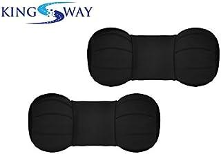 Kingsway Dumbell Shape car Neck Rest Pillow for Honda wr-v (Black, Set of 2, Leatherette)