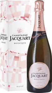Rosé Mosaïque Brut in Geschenkpackung Champagne Jacquart, trockener Champagner aus Chardonnay/Pinot Noir/Pinot Mineur