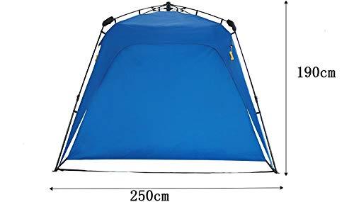 Defacto Outdoor Pop Up - Carpa plegable para jardín, camping, fiestas, incluye 2 laterales, 250 x 190 cm, color azul