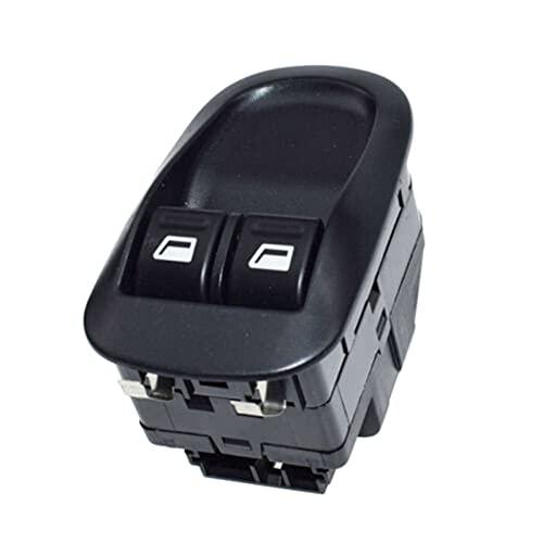 Aouoihnb Interruptor de Control del botón eléctrico Master Resistente al Desgaste No es fácil de deformar Durable para Peugeot 206 306 6554 (Color : Black)