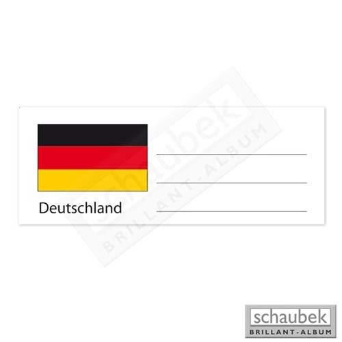 Schaubek Numismatik Länderetikett für Münzhülle - Deutschland EKEURO-DEUTSCHLAND
