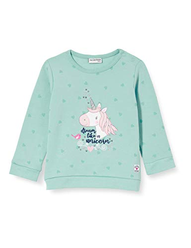 Salt & Pepper Baby-Mädchen 05211210 Sweatshirt, Dusty Mint, 74