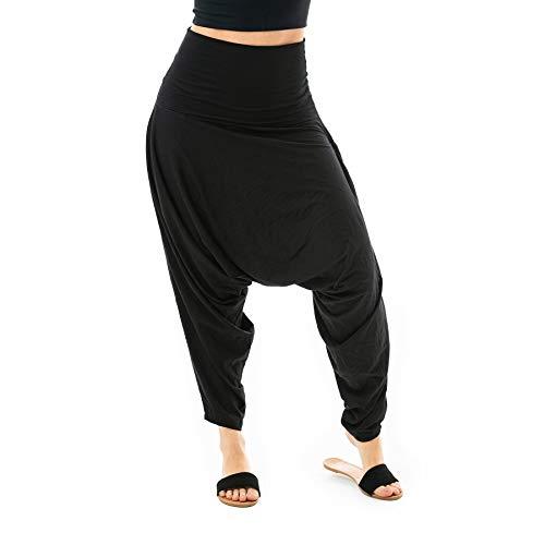 Buddha Pants San Fran Organic Bamboo Harem Pants Black