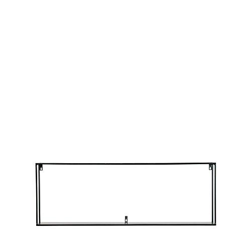 Maison ESTO Meert Wandregal XXL 100cm, Schwarz, Breite: 100 cm Tiefe: 20 cm Höhe: 35 cm