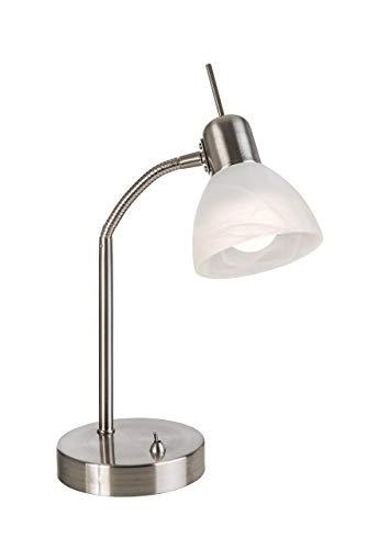 Nino Leuchten 51890101lampada da tavolo, in metallo, argento, 30cm