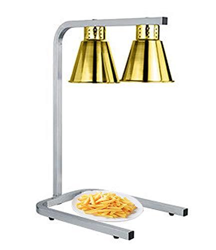 Drxiu U Huishoudelijke aanrecht, dubbele verwarmer voor gerechten, pizza-weergave, licht, verwarming, grill, platen, kast, levensmiddelen, warm houden