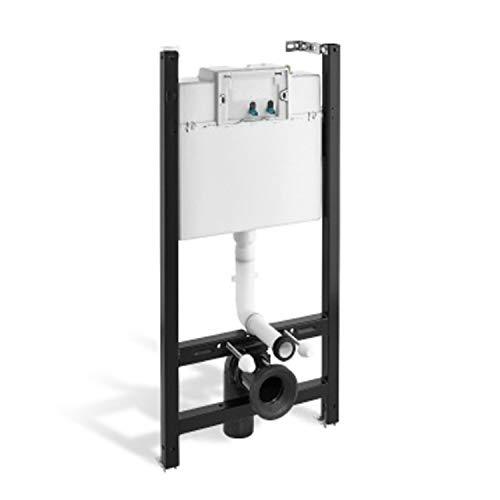 Bastidor para inodoro suspendido con cisterna de doble descarga, 132,5 x 54,7 x 20 centímetros, color negro (referencia: 5539200)