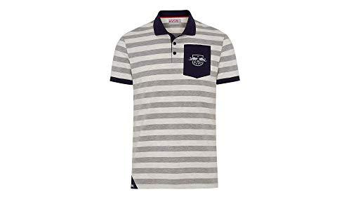 RB Leipzig Sideline Polo, Gris Herren Small Polo Shirt, RasenBallsport Leipzig Sponsored by Red Bull, Original Bekleidung & Merchandise